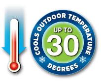 Cools Outdoor Temperature Up to 30 Degrees